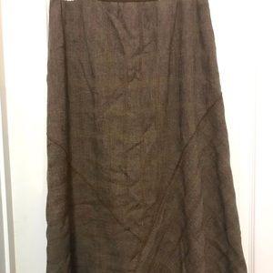Jjill long skirt side zip small